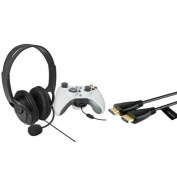 Insten Black Game Live Headset Headphone with Mic + 1.8m HDMI Cable For Xbox 360