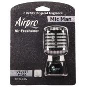 Airpro Auto Air FreshenerLuxury Series Velvet Mask Mic Man with Refill