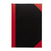 Spirax Notebook Casebound Black/Red A4
