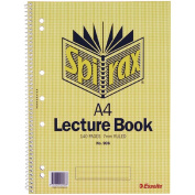 Spirax Lecture Book 906 140 Page Yellow A4