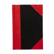 Spirax Notebook Casebound Black/Red A6