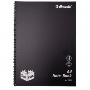 Spirax P595 PP Notebook A4 Black 120 Pages