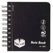 Spirax Notebook P800 Black 400 Page 120mm x 140mm