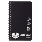 Spirax P561 Notebook Black 147mm X 87mm 96 Page