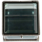 Lillian Rose Silver Square Glass Ring Box