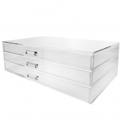 Ikee Design Acrylic 3 Drawer Cosmetic and Jewellery Organiser