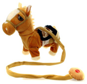 My Walking Pony Walk Along Toy Stuffed Plush Pony Toy, Realistic Walking Actions with Horse Sounds and Music