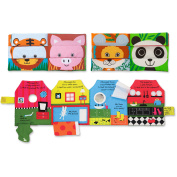 Melissa and Doug Soft Activity Baby Book Set, Mix and Match and Have You Seen My Puppy.