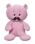 Moustache Bear Pink Coloured Plush Toy - By Ganz
