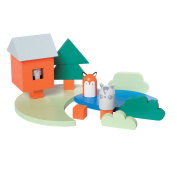 Manhattan Toy Camp Acorn Wood Playset