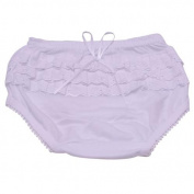 Piccolo Baby Girls White Embroidered Ruffle Detail Scallop Trim Underwear 12M