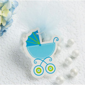 Baby Shower Blue Baby Carriage Gift Tags w/ Twist Ties