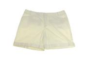 INC International Concepts Plus Size White Cuffed Shorts 14W