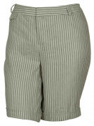 INC International Concepts Women's Striped Bermuda Shorts