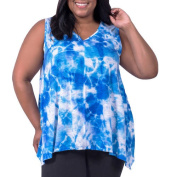 Fit for Me by Fruit of the Loom Women's Plus-Size Raw Edge Swing Tank