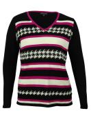 Jones New York Women's Ribbed Sleeves V-Neck Sweater