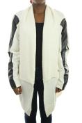 Inc Buttercream Plus Size Faux-Leather-Trim Open Cardigan 1X