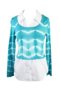Inc International Concepts Plus Size Teal Layered-Look Sweater 2X