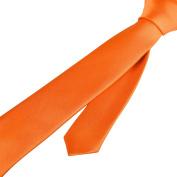 Zodaca Orange Casual Slim Plain Men's Solid Skinny Neck Party Wedding Classic Tie Necktie