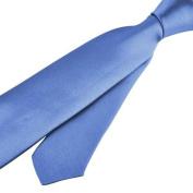 Zodaca Light Blue Casual Slim Plain Men's Solid Skinny Neck Party wedding Shirt Tie Necktie