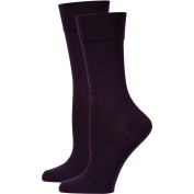 Peds Ladies Comfort Top Dress Crew Socks with Tactel, 2 Pairs
