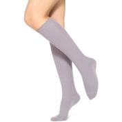 No nonsense Women's Tipped Scallop Silver Knee Sock