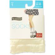 No nonsense Women's Opaque Scallop Edge Anklet