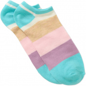 No Boundaries Ladies Polka Dot Cat 6-Pack No-Show Sock with 3D Feather Yarn Ears