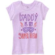 Girls' Daddy is My Superhero Masquerade Ball Mask Short Sleeve Crew Neck Graphic T-Shirt