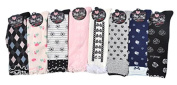 Lian LifeStyle Girls' 8 Pairs Pack Laced Knee High Cotton Socks Butterfly Knot