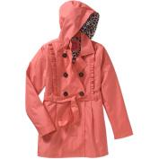 Pink Platinum Girls' Ruffle Trench Coat