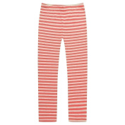 Richie House Girls Red Grey Striped Stretchy Standard Leggings 7-12