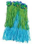US Toy Hawaiian Luau Flower Hula Skirt, Blue Green, Child Size 46cm