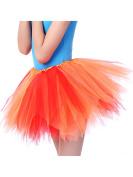 Tutu Skirts Orange 28cm Girls Dance Angular Skirt