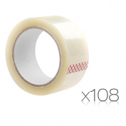 108 Rolls Transparent Packing Tape