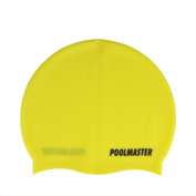 Yellow Silicone Swim Cap for Swimming Pools and Spas for Teens and Adults