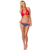 Wonder Woman Lace Up Halter Top Bikini