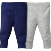 Gerber Newborn Baby Boy Modern Fit Ribbed Cuff Pants, 2-Pack