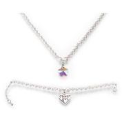 Lillian Rose Flower Girl Necklace and Bracelet Set