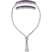 """Truly Inspired Crystal Fine Silver-Tone """"Faith/Blessed"""" Adjustable Bracelet"""