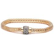 CZ 18kt Gold-Plated Silver Meshed Bracelet, 19cm