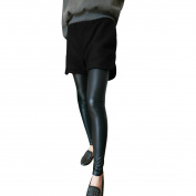 Juniors Hign Rise Side Pockets Fashional Casual Mini Shorts Black