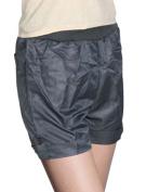 Juniors Elastic Waist Mock Pocket Back Leisure Shorts