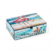 Value Arts Company Flamingo on Beach Treasure Accessory Box