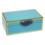 Sagebrook Home Decorative Jewellery Box with Agate