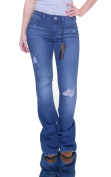 Suede High Rise Flare Jeans Size 25