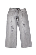 Calvin Klein Jeans Juniors Grey Ripped Cropped Straight-Leg Jeans 28