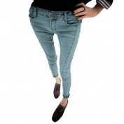 Juniors Belt Loops Hidden Zipper Slim Fit Button Closure Casual Jeans