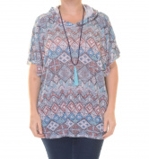 No Comment Mayan Poncho Short Sleeve Size S NWT - Movaz