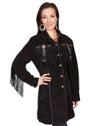 Scully Western Jacket Womens Leather Fitted Beaded Fringe L615